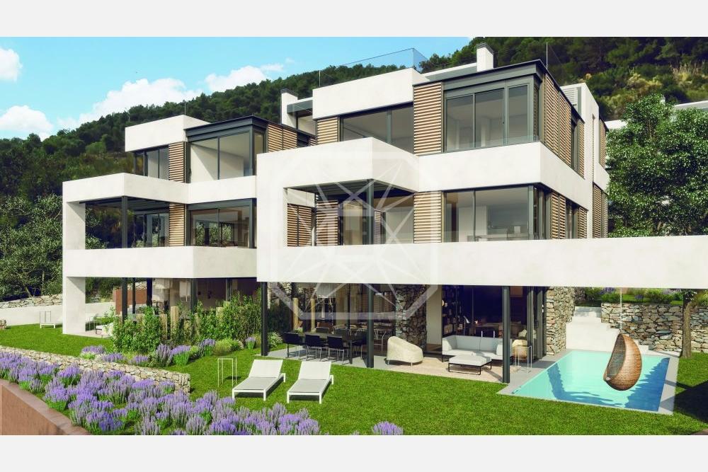 Casa Con Piscina De Obra Nueva En Can Caralleu Bcn Premium