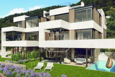 Casa con piscina de obra nueva en Can Caralleu
